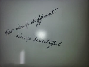 What makes you different makes you beautyful
